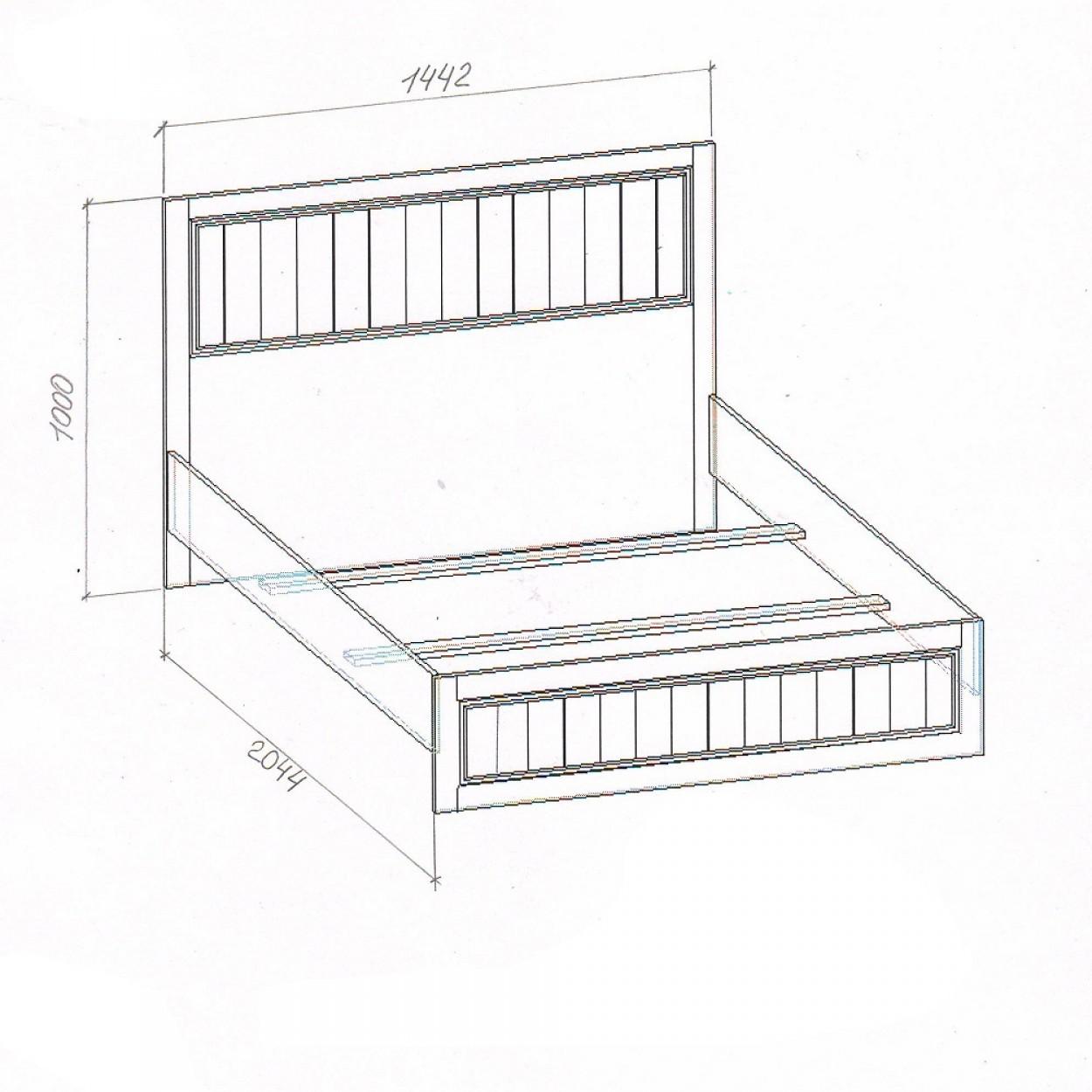 """Кровать (140) """"Милена-2"""""""