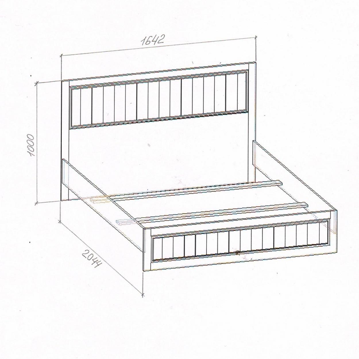 """Кровать (160) """"Милена-2"""""""
