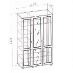 """Шкаф 3-х створчатый """"Милена-2"""""""