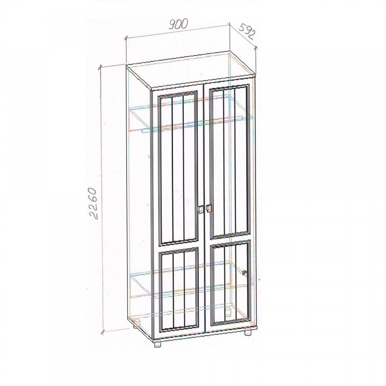 """Шкаф 2-х створчатый """"Милена-2"""""""