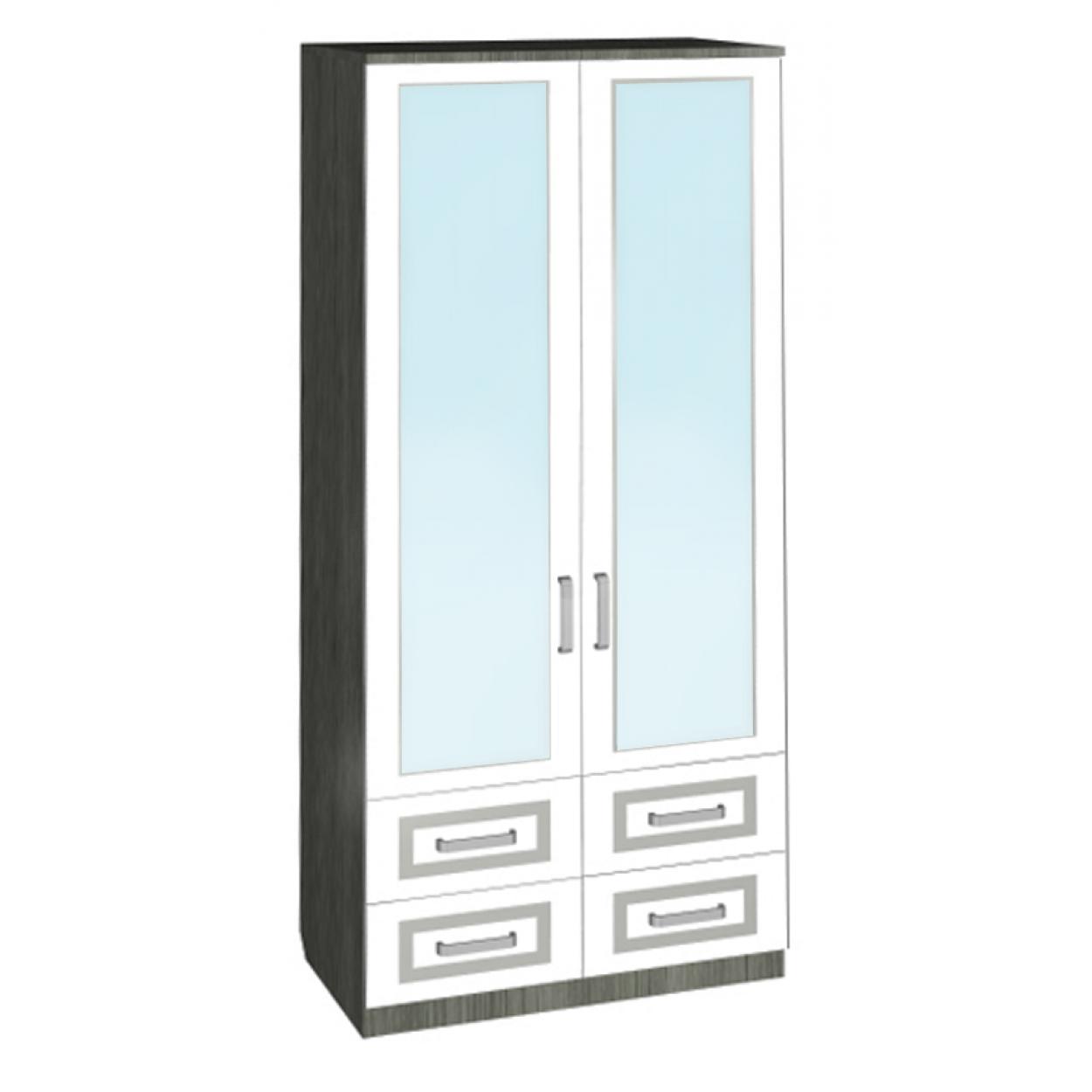 """Шкаф комбинированный с ящиками и зеркалом """"Архимед-2"""""""